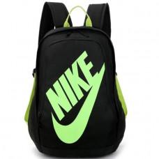 Рюкзак Nike школьный черный с салатовым